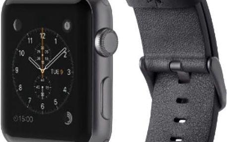 Belkin kožený řemínek pro Apple watch (42mm), černý - F8W732btC00