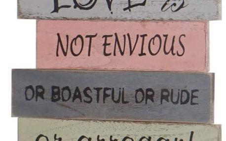Nástěnná dekorace Mendler Shabby Love Is Patient