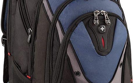 """WENGER IBEX - 17"""" batoh na notebook, modrý - 600638 + Bezdrátová myš černá v hodnotě 199,-"""