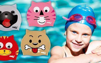 Dětské plavecké čepice se zvířecím motivem
