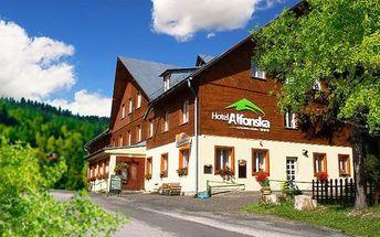 3–6denní pobyt s polopenzí v hotelu Alfonska*** v Krkonoších pro 2 osoby