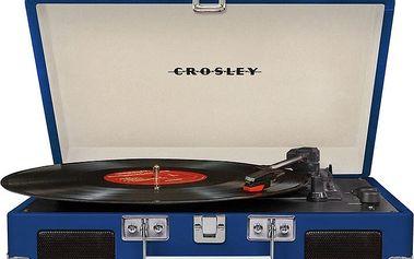 Crosley Cruiser Deluxe, modrá - CR8005D-BL4