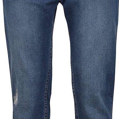 Modré 3/4 džíny s vyšisovaným efektem Roxy My