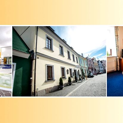 Hotel Galerie Třeboň **** s polopenzí a vstupem do lázní