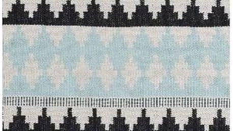 Modrý bavlněný koberec Linie Design Nantes, 80x250cm - doprava zdarma!