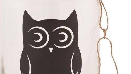 Skleněná dóza Clayre & Eef Owl