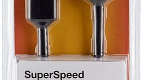 Belkin USB 3.0 kabel A-microB, 0.9 m - F3U166cp0.9M