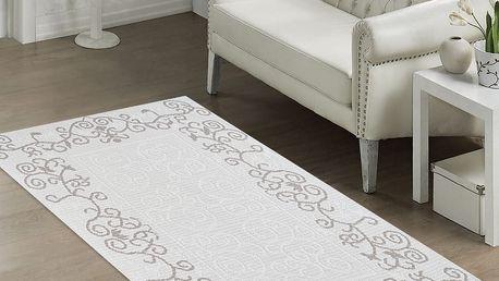 Odolný koberec Orchidea, 60x90 cm, béžový