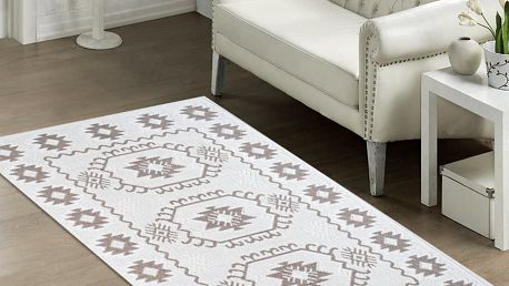 Odolný koberec Dahlia, 60x90 cm, béžový