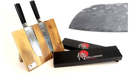 Mistrovská sada 2 nožů Dellinger Tsuchime s magnetickým držákem