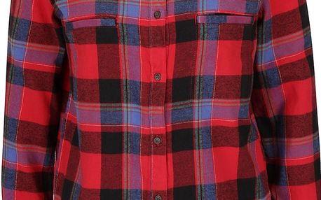 Červená kostkovaná košile Roxy Campay
