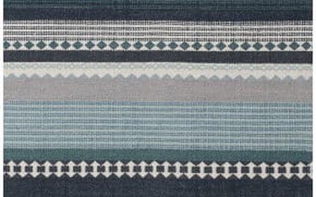 Modrý bavlněný koberec Linie Design Hibiscus, 80x280cm - doprava zdarma!