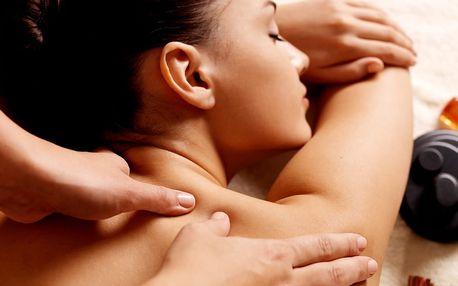 45 minut relaxace - masáž zad, šíje a ramen s možností permanentky