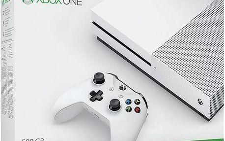Herní konzole Microsoft Xbox One S 500 GB (ZQ9-00012) bílá Hra Microsoft Xbox One Minecraft (zdarma)+ Gamepad Microsoft Xbox One Wireless - bílý v hodnotě 1 299 Kč + Doprava zdarma