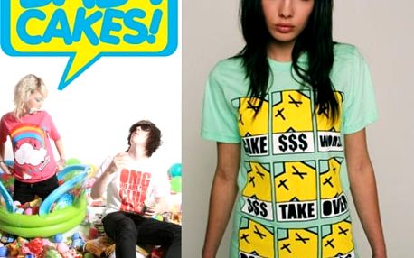 Unisex trička s barevnými potisky BabyCakes - VÝPRODEJ