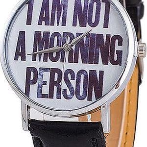 Unisex hodinky s originálním nápisem
