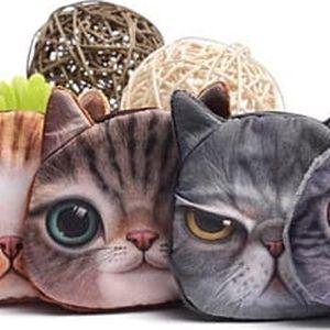 Malá peněženka v podobě kočičí hlavy - dodání do 2 dnů