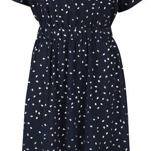 Tmavě modré šaty se vzorem ve zlaté barvě VILA Calt