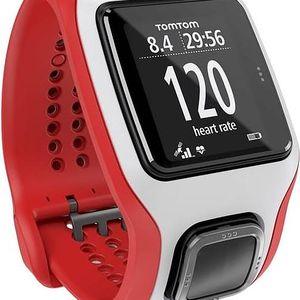 GPS hodinky Tomtom Runner Cardio (1RA0.001.01) bílé/červené + Doprava zdarma
