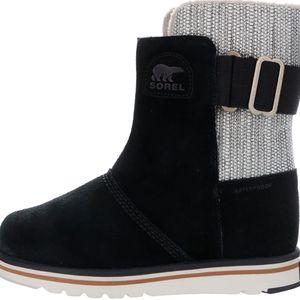 Šedo-černé kožené voděodolné zimní boty SOREL Rylee