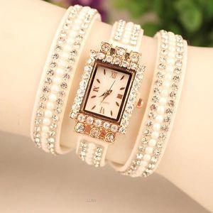 Vícevrstvé hodinky s kamínky - 7 barev