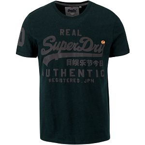 Tmavě zelené pánské triko s nápisem Superdry