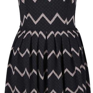 Černé vzorované šaty Mela London