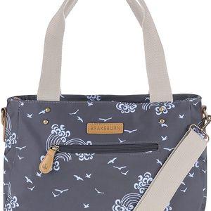 Tmavě modrá taška s motivem vln Brakeburn Birds & Waves