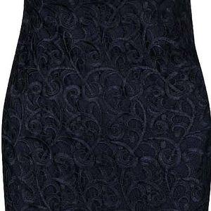 Tmavě modré krajkové šaty na ramínka AX Paris