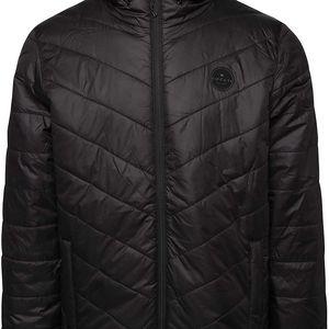 Černá pánská prošívaná bunda s kapucí Rip Curl Melt Anti Insulated