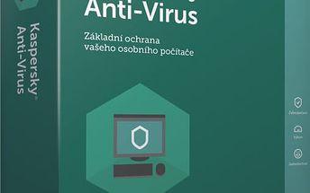 Kaspersky Anti-Virus 2017 CZ, 5 zařízení, 24 měsíců, obnovení licence - KL1171XCEDR