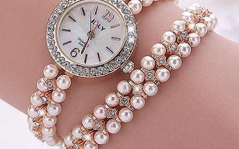 Dámské hodinky s elegantním páskem - dvě barvy