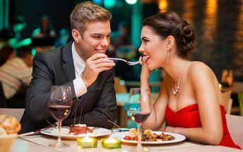 Romantické menu pro 2: carpaccio, steak, dezert