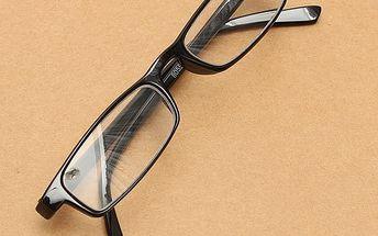 Dioptrické brýle na čtení v černé barvě - 5 velikostí dioptrií