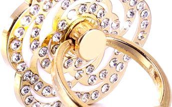 Originální prsten na telefon ve tvaru květiny