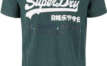 Zelené pánské triko s nápisem Superdry