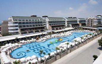 Turecko - Belek na 8 dní, ultra all inclusive s dopravou letecky z Bratislavy nebo Košic
