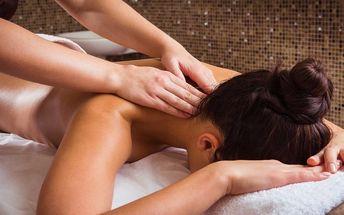 Uvolňující masáž zad, šíje a krku+možnost zábalu