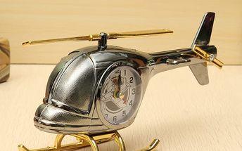 Kreativní budík v podobě vrtulníku