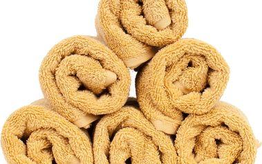 Sada 6 žlutých bavlněných ručníků Casa Di Bassi Sun, 30x50cm