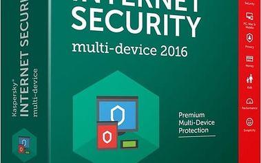 Kaspersky Internet Security multi-device 2017 CZ, 1 zařízení, 1 rok - KL1941XCAFS