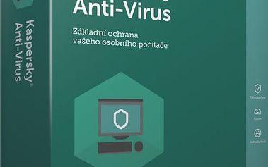 Kaspersky Anti-Virus 2017 CZ, 4 zařízení, 12 měsíců, obnovení licence - KL1171XCDFR