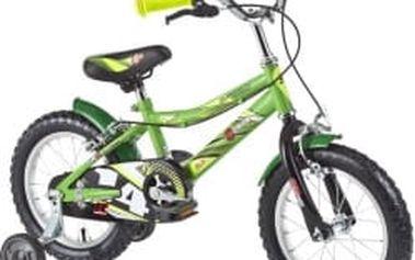 """DHS Speed 1403/1401 - 14"""" zelené dětské kolo"""