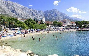Chorvatsko, Makarská riviéra - Baška Voda v sezóně na 8 dní pro 1 osobu s možností polopenze