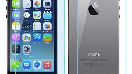 Ochranné zadní a přední tvrzené sklo pro iPhone 5/5s
