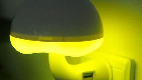 Lampička do zásuvky v podobě houby - US zástrčka