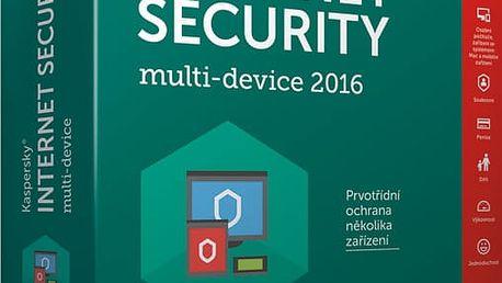 Kaspersky Internet-Security multi-device 2017 CZ pro 2 zařízení na 12 měsíců, nová licence - KL1941XCBFS