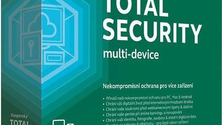 Kaspersky Total Security multi-device CZ pro 3 zařízení na 12 měsíců, nová licence - KL1919XCCFS