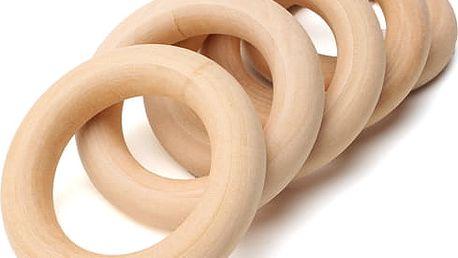 Dřevěné kroužky 45 mm - 15 kusů