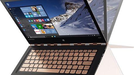 Lenovo YOGA 900S-12ISK, zlatá - 80ML004VCK + Microsoft Office 365 pro domácnosti - 1 rok v ceně 2299 Kč + Sleva 1kč